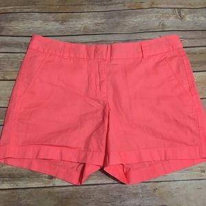 J Crew Factory Neon Pink Broken In Chino Shorts